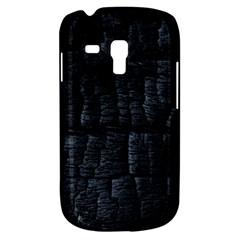 Black Burnt Wood Texture Galaxy S3 Mini