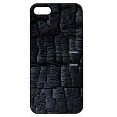 Black Burnt Wood Texture Apple Iphone 5 Hardshell Case With Stand