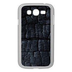 Black Burnt Wood Texture Samsung Galaxy Grand Duos I9082 Case (white)