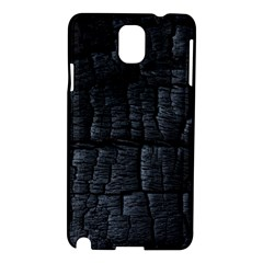 Black Burnt Wood Texture Samsung Galaxy Note 3 N9005 Hardshell Case