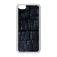 Black Burnt Wood Texture Apple Iphone 5c Seamless Case (white)