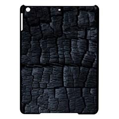 Black Burnt Wood Texture Ipad Air Hardshell Cases