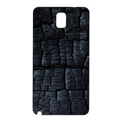 Black Burnt Wood Texture Samsung Galaxy Note 3 N9005 Hardshell Back Case