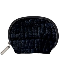 Black Burnt Wood Texture Accessory Pouches (small)