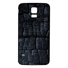 Black Burnt Wood Texture Samsung Galaxy S5 Back Case (white)