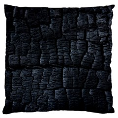 Black Burnt Wood Texture Standard Flano Cushion Case (Two Sides)