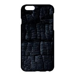 Black Burnt Wood Texture Apple Iphone 6 Plus/6s Plus Hardshell Case