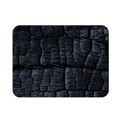 Black Burnt Wood Texture Double Sided Flano Blanket (mini)