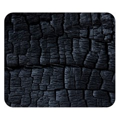 Black Burnt Wood Texture Double Sided Flano Blanket (Small)