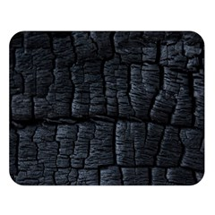 Black Burnt Wood Texture Double Sided Flano Blanket (large)
