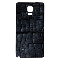 Black Burnt Wood Texture Galaxy Note 4 Back Case