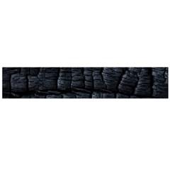 Black Burnt Wood Texture Flano Scarf (large)