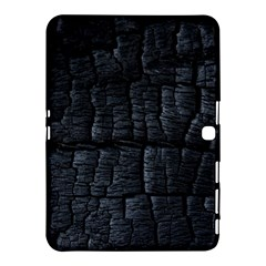 Black Burnt Wood Texture Samsung Galaxy Tab 4 (10 1 ) Hardshell Case