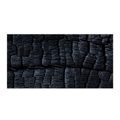 Black Burnt Wood Texture Satin Wrap