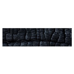 Black Burnt Wood Texture Satin Scarf (oblong)