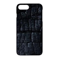 Black Burnt Wood Texture Apple Iphone 7 Plus Hardshell Case