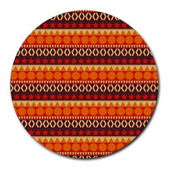 Abstract Lines Seamless Art  Pattern Round Mousepads