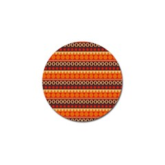 Abstract Lines Seamless Art  Pattern Golf Ball Marker