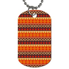 Abstract Lines Seamless Art  Pattern Dog Tag (two Sides)