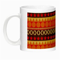 Abstract Lines Seamless Art  Pattern Night Luminous Mugs