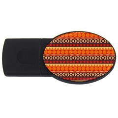 Abstract Lines Seamless Art  Pattern Usb Flash Drive Oval (4 Gb)