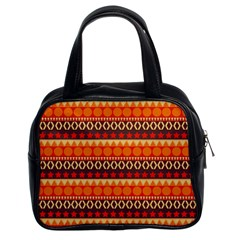 Abstract Lines Seamless Art  Pattern Classic Handbags (2 Sides)