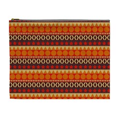 Abstract Lines Seamless Art  Pattern Cosmetic Bag (xl)