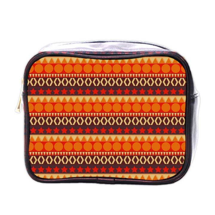 Abstract Lines Seamless Art  Pattern Mini Toiletries Bags