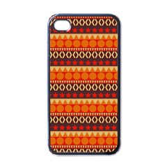 Abstract Lines Seamless Art  Pattern Apple Iphone 4 Case (black)