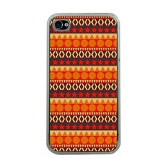 Abstract Lines Seamless Art  Pattern Apple Iphone 4 Case (clear)