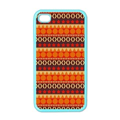 Abstract Lines Seamless Art  Pattern Apple iPhone 4 Case (Color)