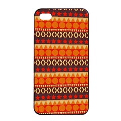 Abstract Lines Seamless Art  Pattern Apple Iphone 4/4s Seamless Case (black)