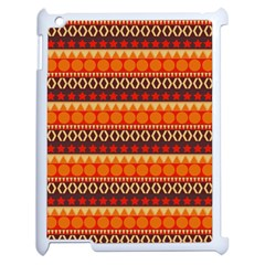 Abstract Lines Seamless Art  Pattern Apple Ipad 2 Case (white)