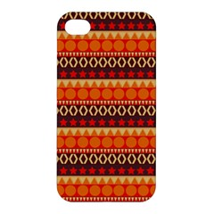 Abstract Lines Seamless Art  Pattern Apple iPhone 4/4S Premium Hardshell Case