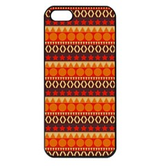 Abstract Lines Seamless Art  Pattern Apple Iphone 5 Seamless Case (black)