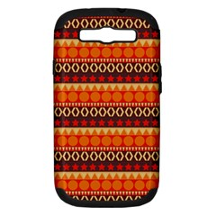 Abstract Lines Seamless Art  Pattern Samsung Galaxy S III Hardshell Case (PC+Silicone)