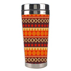 Abstract Lines Seamless Art  Pattern Stainless Steel Travel Tumblers