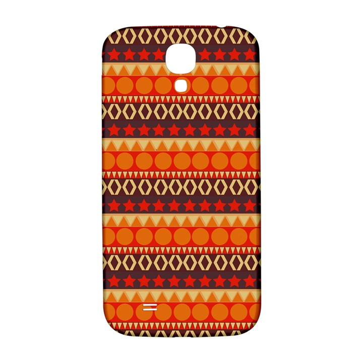 Abstract Lines Seamless Art  Pattern Samsung Galaxy S4 I9500/I9505  Hardshell Back Case