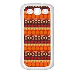 Abstract Lines Seamless Art  Pattern Samsung Galaxy S3 Back Case (white)