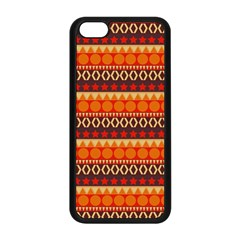 Abstract Lines Seamless Art  Pattern Apple iPhone 5C Seamless Case (Black)