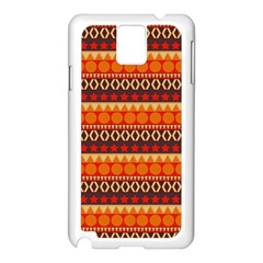 Abstract Lines Seamless Art  Pattern Samsung Galaxy Note 3 N9005 Case (white)