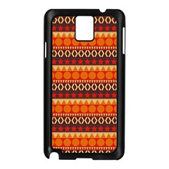 Abstract Lines Seamless Art  Pattern Samsung Galaxy Note 3 N9005 Case (Black)