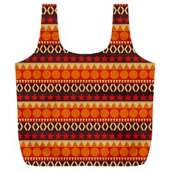 Abstract Lines Seamless Art  Pattern Full Print Recycle Bags (L)