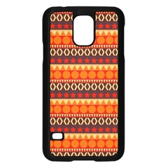 Abstract Lines Seamless Art  Pattern Samsung Galaxy S5 Case (black)