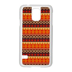 Abstract Lines Seamless Art  Pattern Samsung Galaxy S5 Case (white)