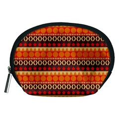 Abstract Lines Seamless Art  Pattern Accessory Pouches (medium)