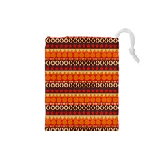 Abstract Lines Seamless Art  Pattern Drawstring Pouches (small)