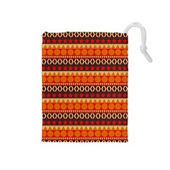 Abstract Lines Seamless Art  Pattern Drawstring Pouches (medium)