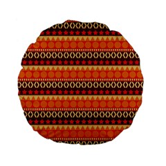 Abstract Lines Seamless Art  Pattern Standard 15  Premium Flano Round Cushions