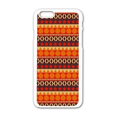 Abstract Lines Seamless Art  Pattern Apple Iphone 6/6s White Enamel Case